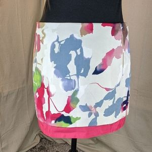 DVF watercolor Elley mini skirt 6 new